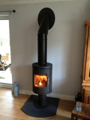 Morso 6148 Wood Burning Stove on Pedestal 3, Tarleton, Preston, Lancashire