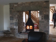 Yeoman Devon Double Sided Single Depth Low Canopy Multi-Fuel Stove, Preston, Lancashire