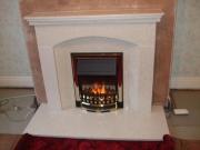 Dimplex Ashington Electric Fire in Marble Fireplace, New Longton, Preston, Lancashire