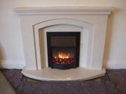 Dimplex Danesbury Electric Fire in Marble Fireplace, Churchtown, Southport, Merseyside