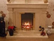 Dimplex Danesbury Electric Fire in Marble Fireplace, Tarleton, Preston, Lancashire