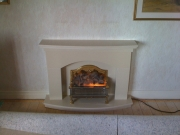 Outset Electric Fire in Made-To-Measure Marble Fireplace, Southport, Merseyside