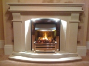 Dimplex Cavendish Optimyst Electric Fire in Marble Fireplace with Lights, Birkdale, Southport, Merseyside
