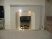 Dimplex Danesbury Electric Fire in Marble Fireplace with Lights, Southport, Merseyside