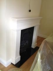 Cast Iron Insert & Limestone Fireplace with Gas Fire 2, Croston, Preston, Lancashire