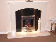 EKO 3020 Gas Fire in Marble Fireplace, Banks, Southport, Merseyside