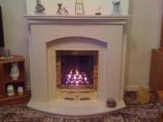 EKO 3030 Gas Fire in Marble Fireplace with Lights, New Longton, Preston, Lancashire