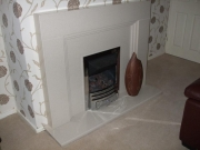 Gas Fire in Marble Fireplace, Burscough, Ormskirk, Lancashire