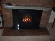 Gazco E-Box Gas Fire in Brick Fireplace 2, Burscough, Ormskirk, Lancashire