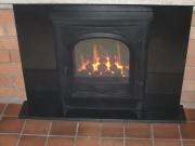 Gazco E-Box Gas Fire in Brick Fireplace, Burscough, Ormskirk, Lancashire