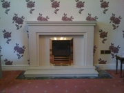 Gazco High Efficiency Gas Fire in Marble Fireplace with Lights, Longton, Preston, Lancashire