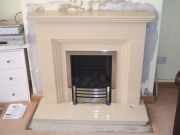 Magiglo Duo Gas Fire in Marble Fireplace, Marshside, Southport, Merseyside