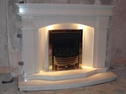 Magiglo Gas Fire in Marble Fireplace with Lights, Banks, Southport, Merseyside
