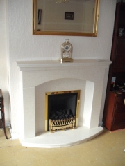 Magiglo Gas Fire in Marble Fireplace with Lights, Kew, Southport, Merseyside