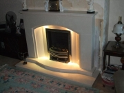 Magiglo Gas Fire in Marble Fireplace with Lights, Ormskirk, Lancashire