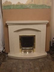 Magiglo Gas Fire in Marble Fireplace with Lights, Tarleton, Preston, Lancashire