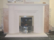 Gazco High Efficiency Gas Fire in Portuguese Limestone Fireplace, Bamber Bridge, Preston, Lancashire