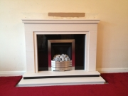 Legend Vantage Gas Fire in Portuguese Limestone Fireplace, Banks, Southport, Merseyside