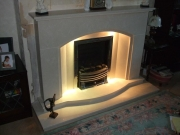 Magiglo Gas Fire in Marble Fireplace with Lights 2, Ormskirk, Lancashire