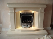 Magiglo Gas Fire in Marble Fireplace with Lights, Banks, Preston, Lancashire