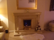 Magiglo Gas Fire in Natural Marble Fireplace, Hesketh Bank, Preston, Lancashire
