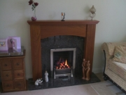 Magiglo Gas Fire in Wooden Fireplace, Tarleton, Preston, Lancashire