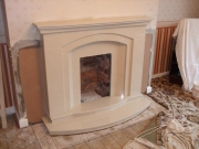 Marble Fireplace with Double Hearth, Bretherton, Chorley, Lancashire
