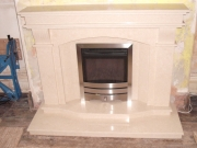 Verine High Efficiency Gas Fire in Marble Gas Fire with Lights, Maghull, Merseyside