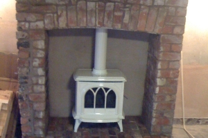 Gazco Huntingdon 30 Gas Stove in Ivory Enamel 2. Churchtown, Southport, Merseyside