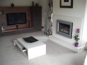 Gazco Riva 67 with Designio Trim in Made To Measure Limestone Fireplace 2, Hesketh Bank, Preston