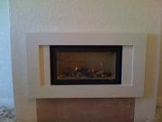 Gazco Studio 1 Glass Fronted Gas Fire with Portuguese Limestone Fascia, Ashton, Preston, Lancashire