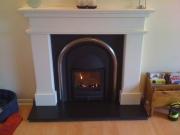 Cast Tec Solid-Fuel Integra Limestone Fireplace Black Slate Hearth, Chorley