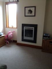 Gazco Riva 53 with Profil Trim on Black Granite Fascia 2, Hesketh Bank, Preston, Lancashire