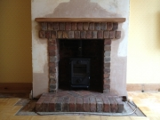 Morso Squirrel 1412 in Brick Fireplace 2, Penwortham, Preston, Lancashire