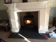 Yeoman CL5 Multi Fuel Stove in Limestone Fireplace, Tarleton, Preston, Lancahire