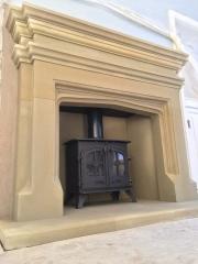 Handmade Sandstone fireplace Chorley Lancashire
