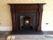 Stovax Stockton 4 Multi Fuel Stove in Wood Fireplace, Southport, Merseyside