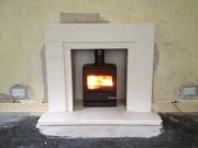 Yeoman CL5 Multi-Fuel Stove in Portuguese Limestone Fireplace, Dalton, Ormskirk, Lancashire